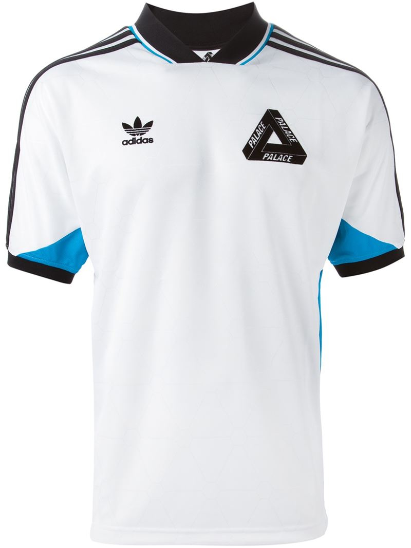 palace adidas x sports t shirt in white for men lyst. Black Bedroom Furniture Sets. Home Design Ideas
