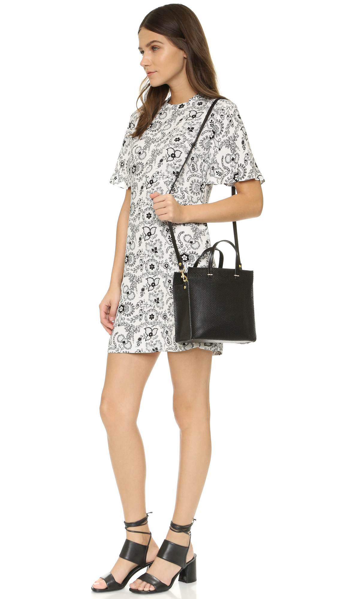 Lyst Clare V Perforated Petite Simple Tote In Black