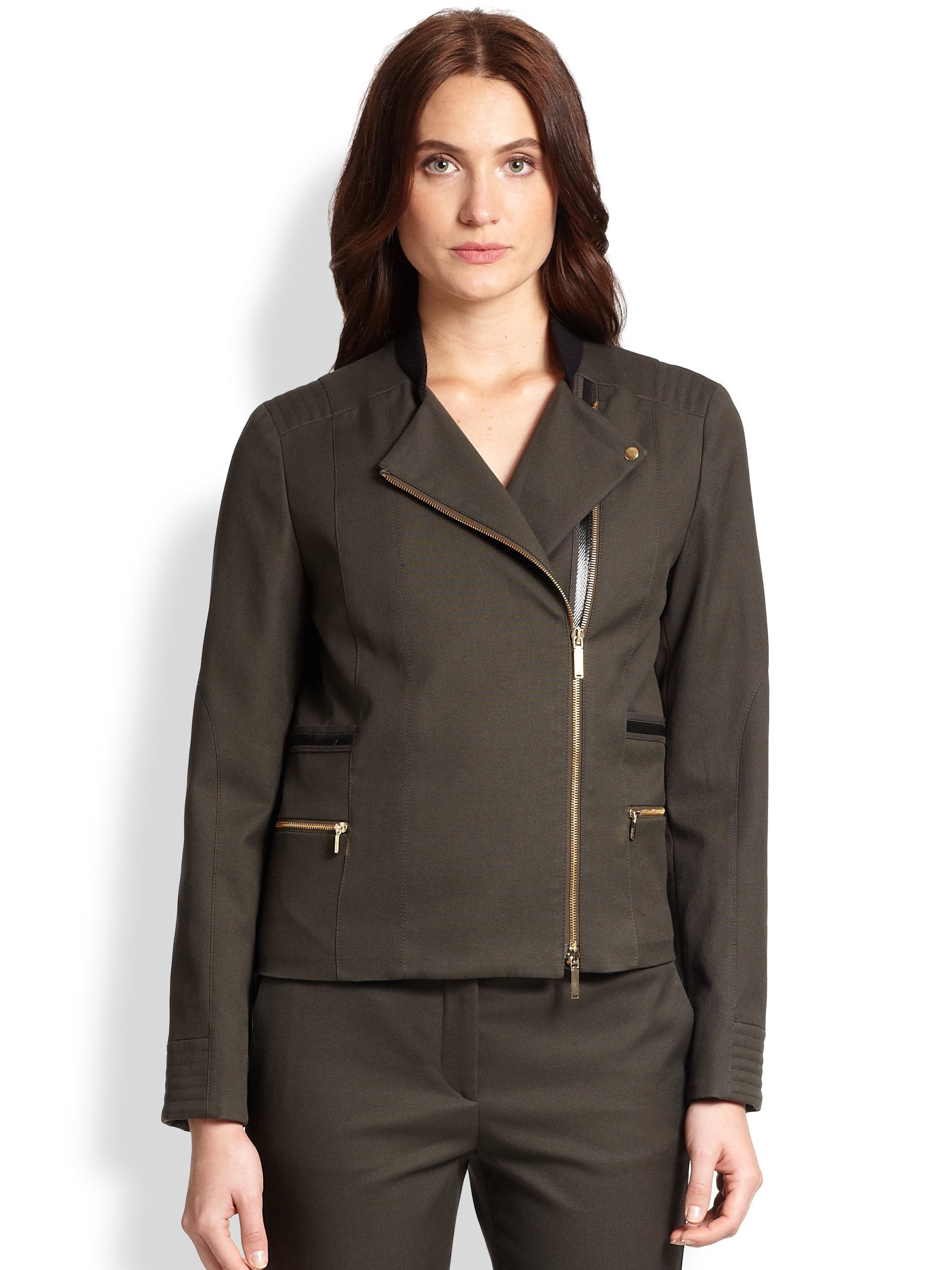 boss by hugo boss jifay jacket in green olive lyst. Black Bedroom Furniture Sets. Home Design Ideas