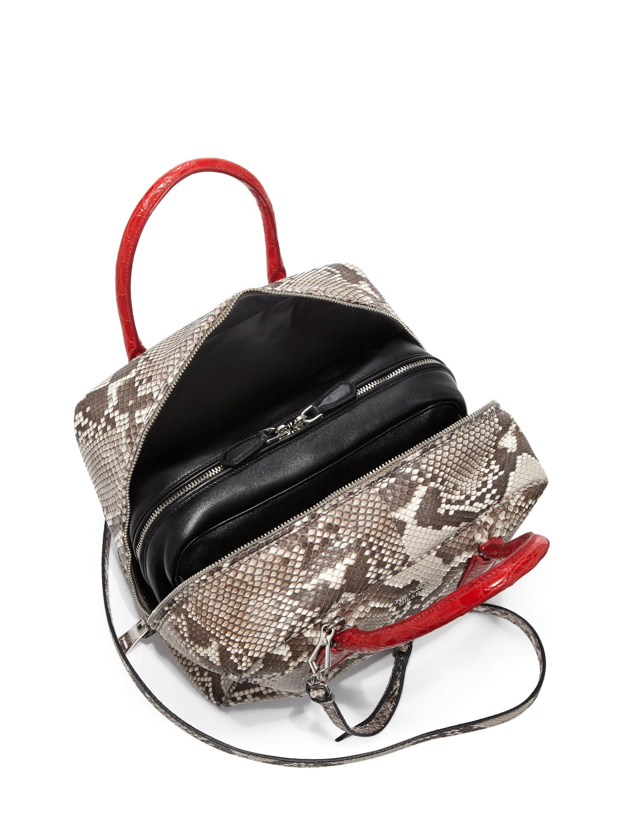 a1cb8dc81c denmark prada brown leather bag 09fb8 738fe  sweden lyst prada python  crocodile inside bag in red 9e3fc 5b9f5