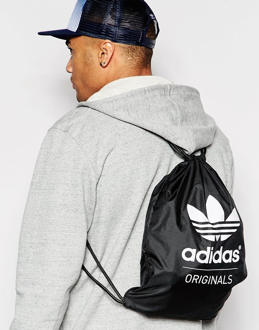 Adidas originals Drawstring Bag Ab2758 in Black for Men | Lyst