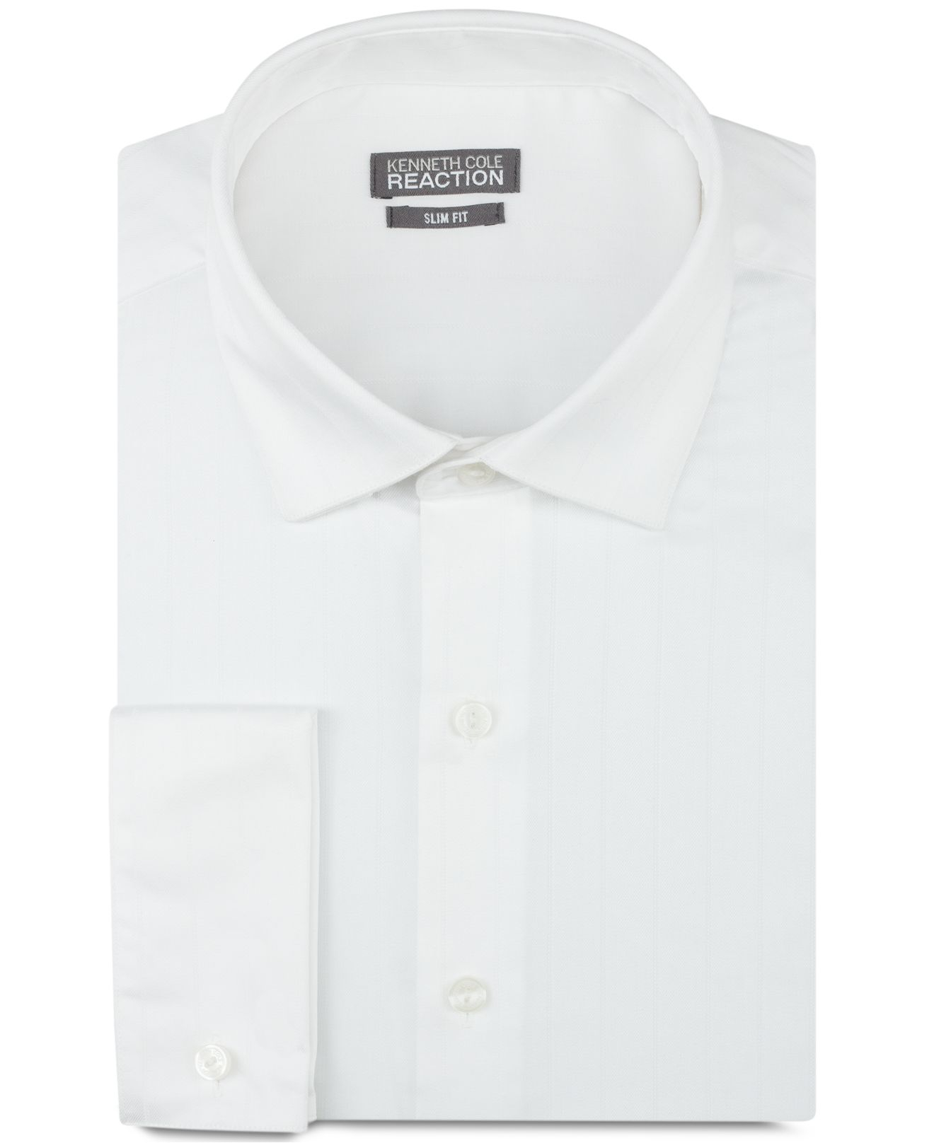 Lyst kenneth cole reaction slim fit textured solid White french cuff shirt slim fit