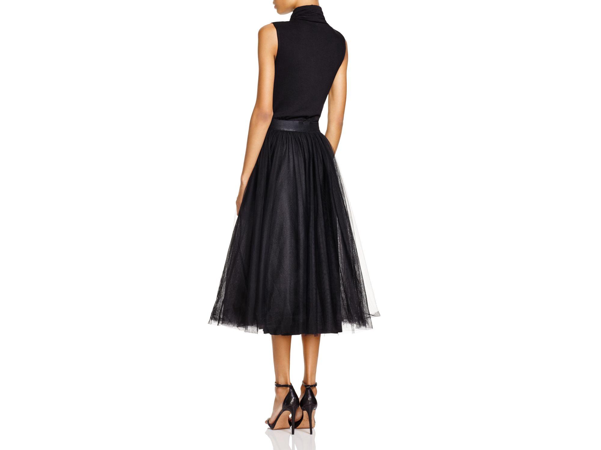 322deae8aea1a Lyst - Bailey 44 Turtleneck Tulle Skirt Midi Dress in Black