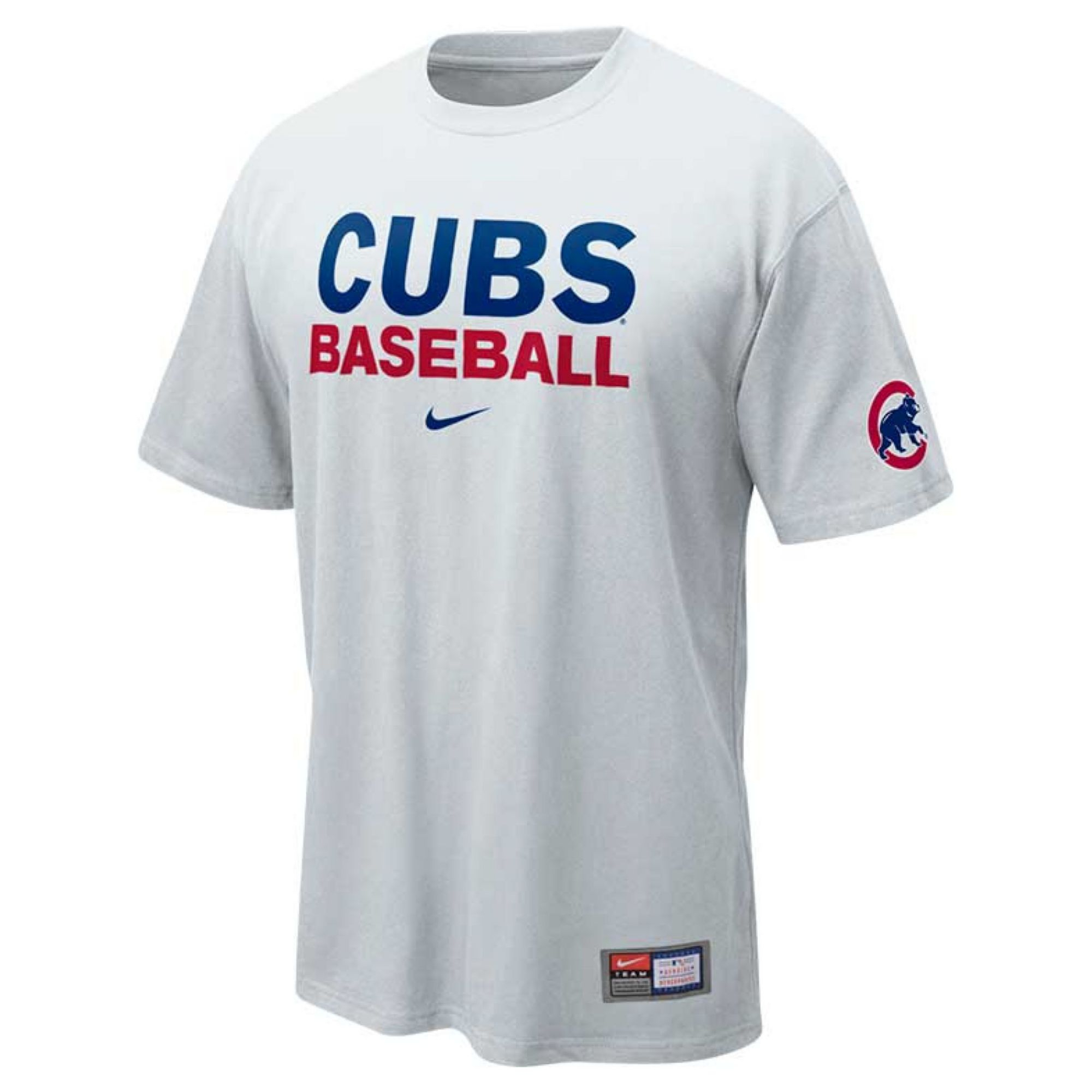 Lyst - Nike Mens Chicago Cubs Practice Ii Tshirt in White ...