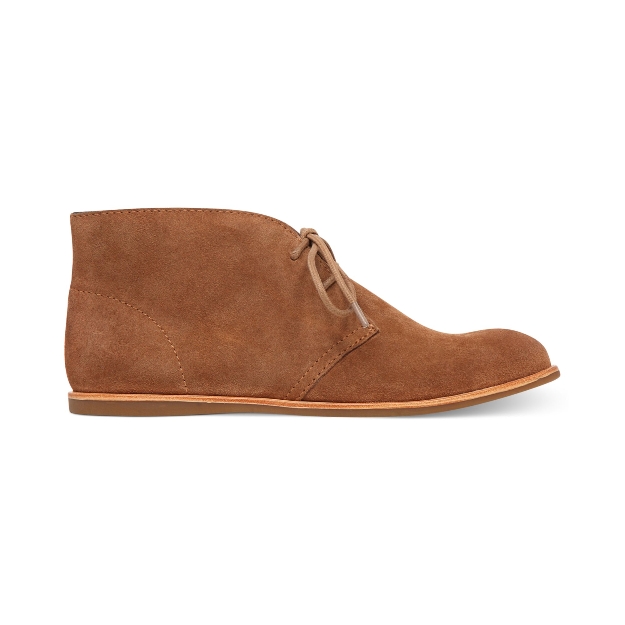 Lucky Brand Womens Asherr Flat Laceup Booties In Brown