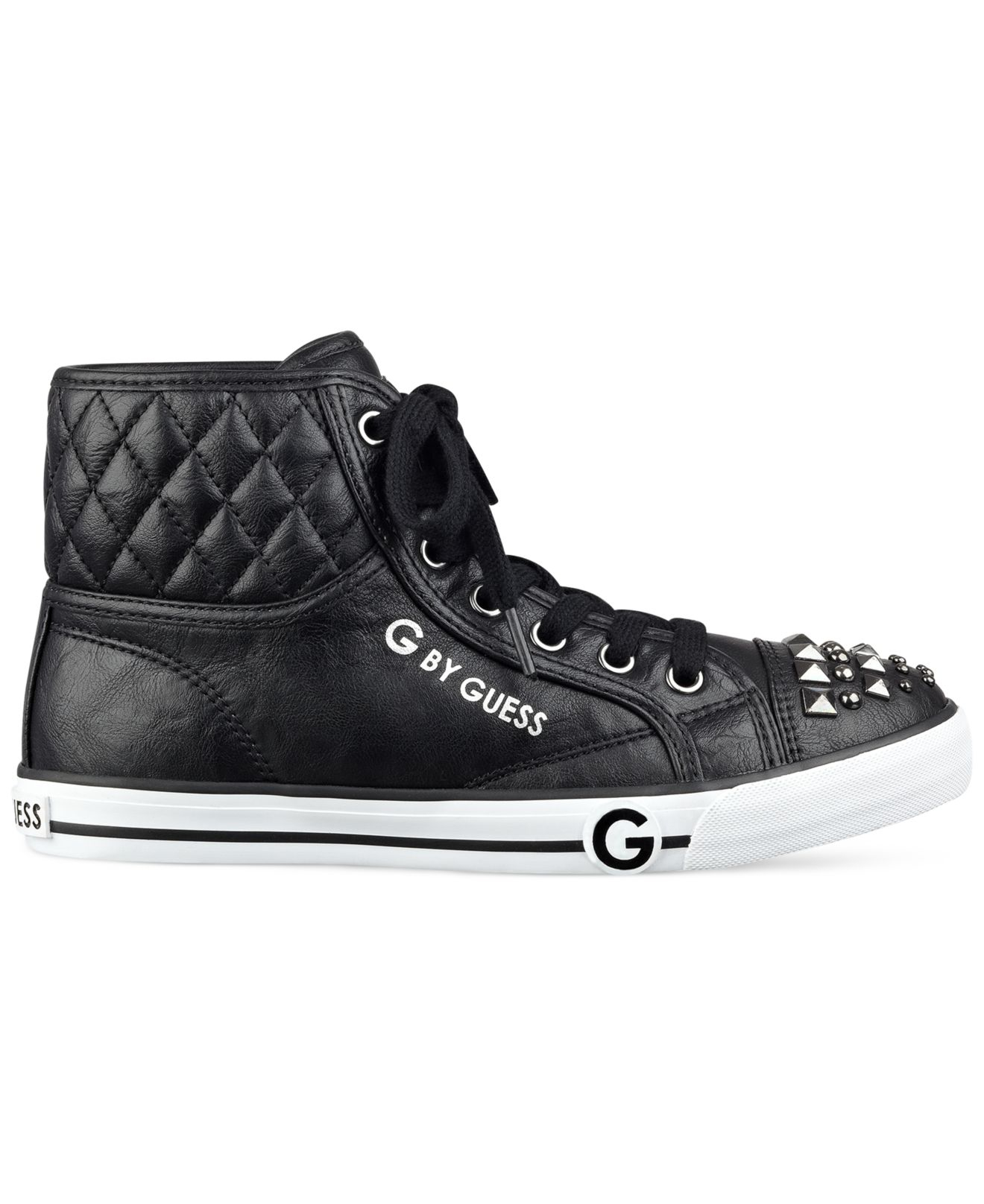 Lyst G By Guess Oana Studded High Top Sneakers In Black