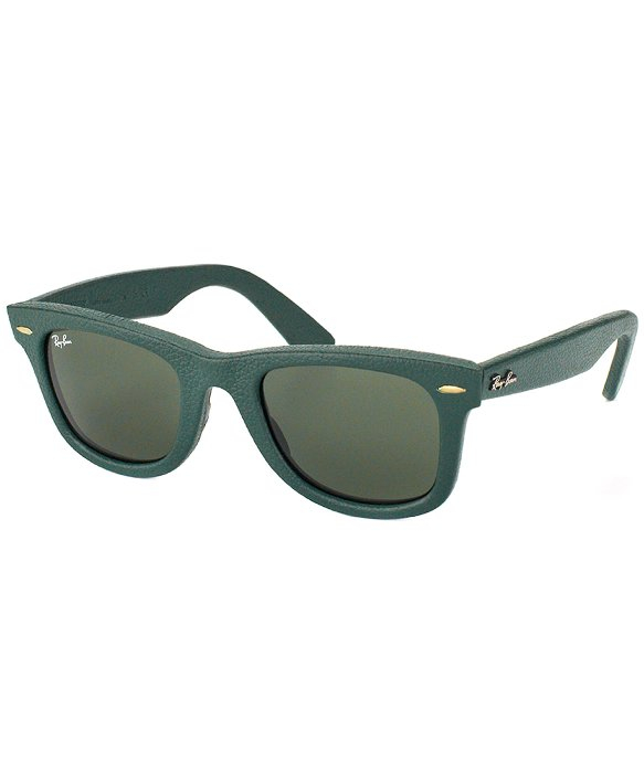 Ray Ban Wayfarer Leather Sunglasses  ray ban ray ban rb2140qm leather wayfarer 1170 plastic sunglasses