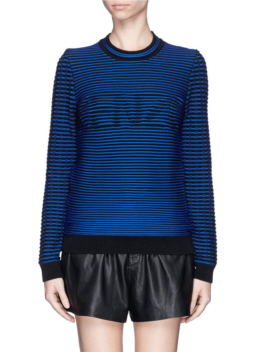 kenzo stripe logo sweater in blue lyst. Black Bedroom Furniture Sets. Home Design Ideas