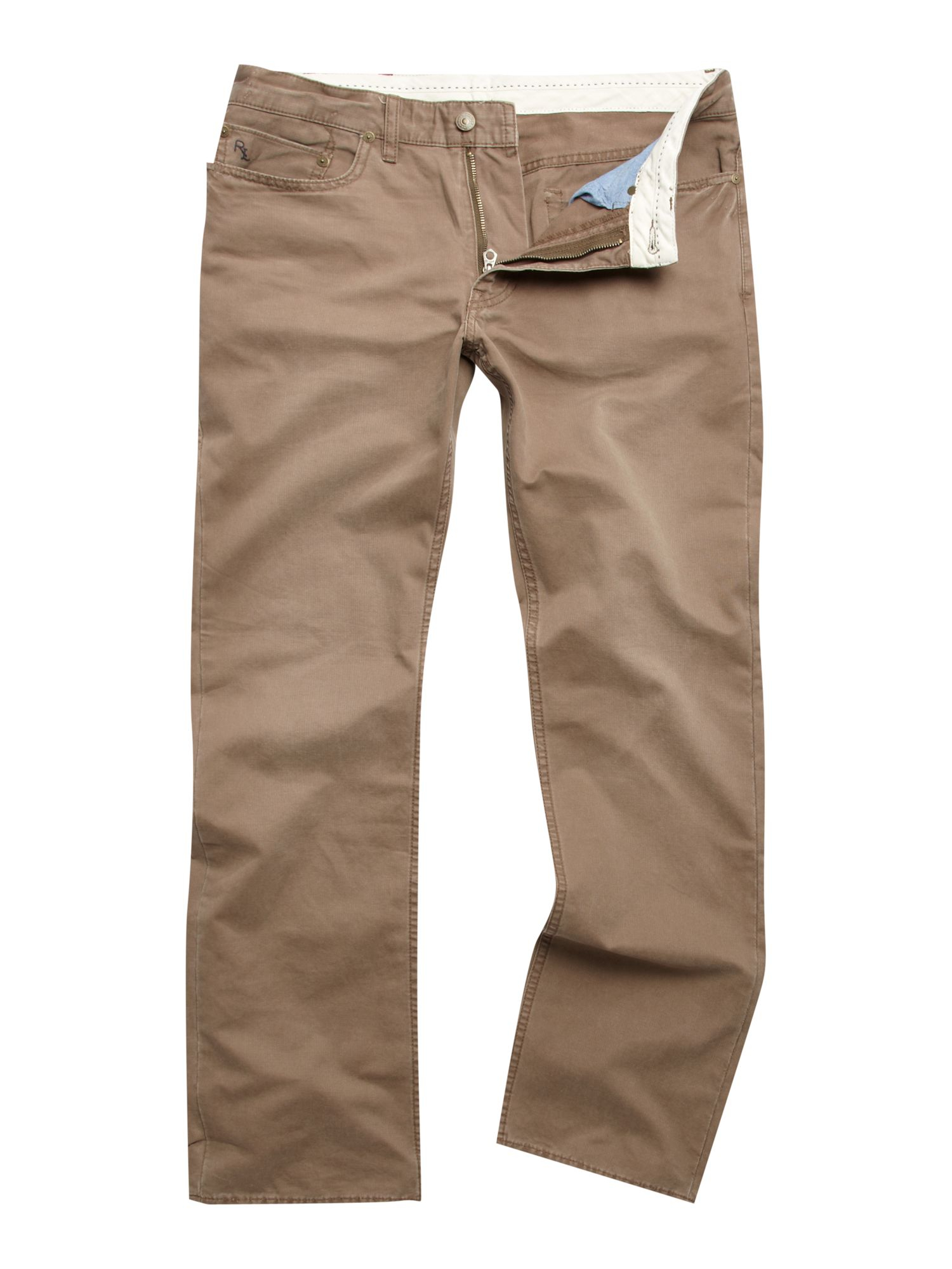 Polo Ralph Lauren 5 Pocket Bedford Chino In Brown For Men