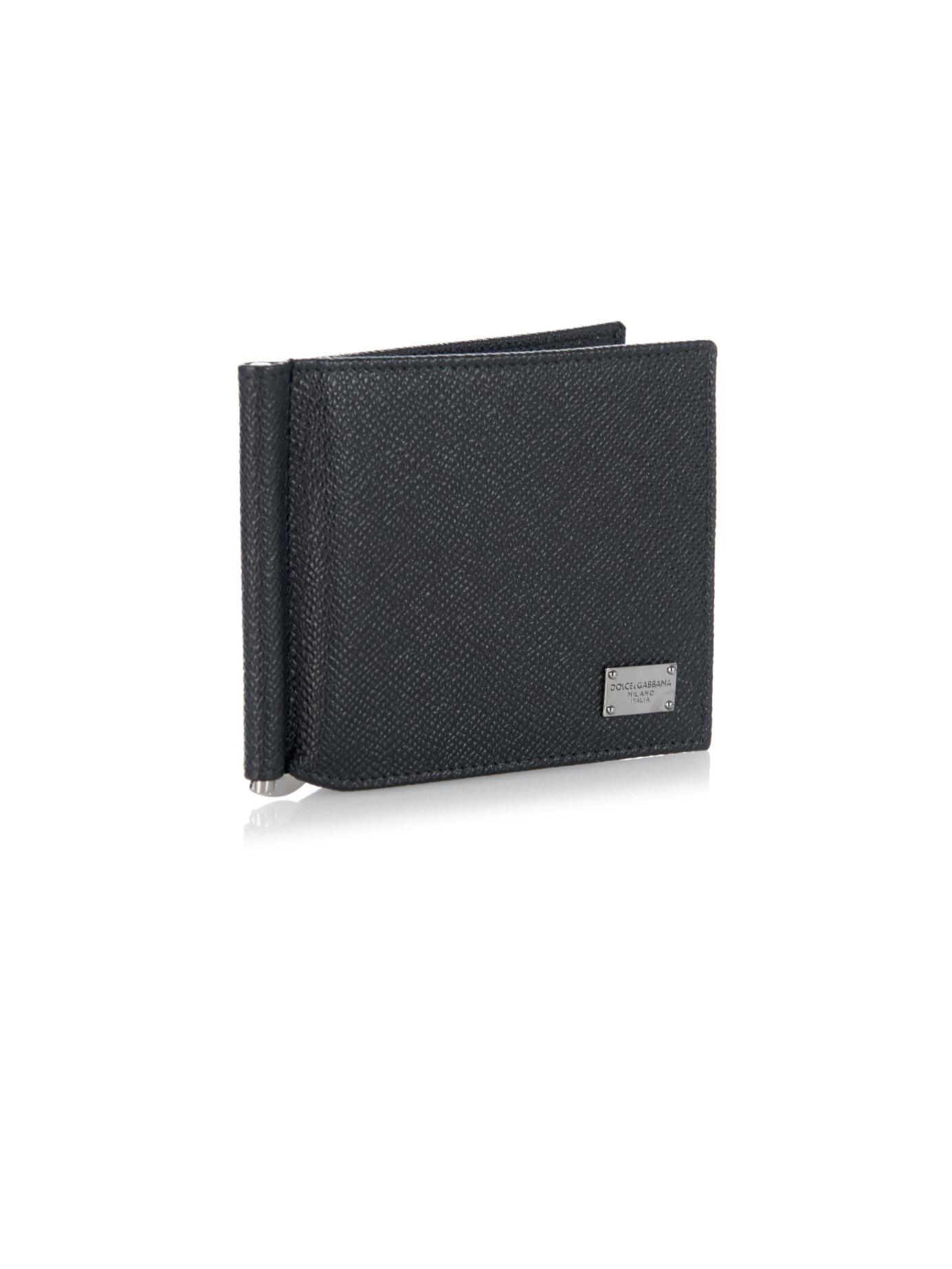 Dolce & Gabbana Black Diamante Logo Leather Card Holder OaV5kR