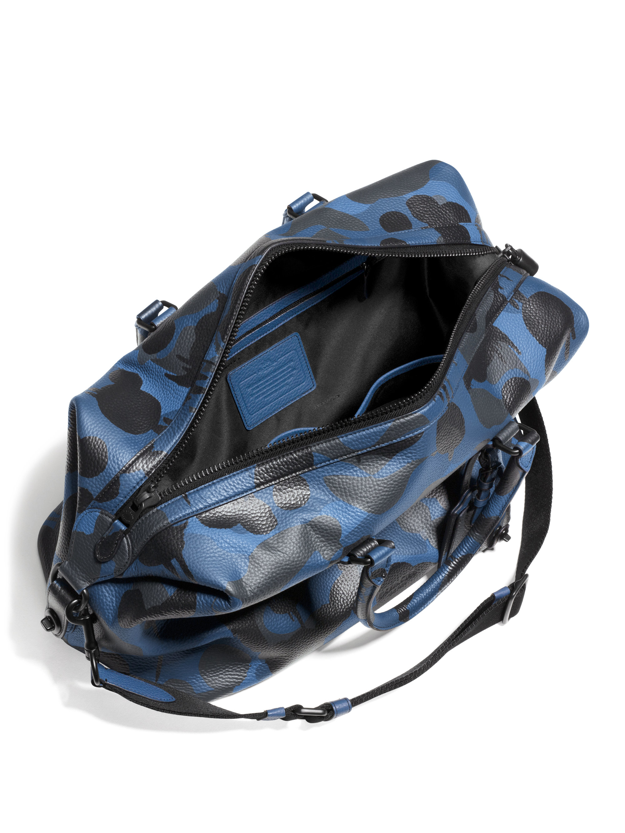 6f9e547988 ... where can i buy lyst coach explorer camo print leather duffle bag in  blue 536b1 1120d norway coach vintage brown leather mens ...