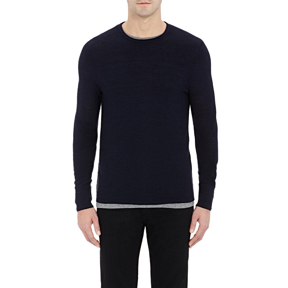 Lyst Rag Bone Mens Gregory Sweater In Blue For Men