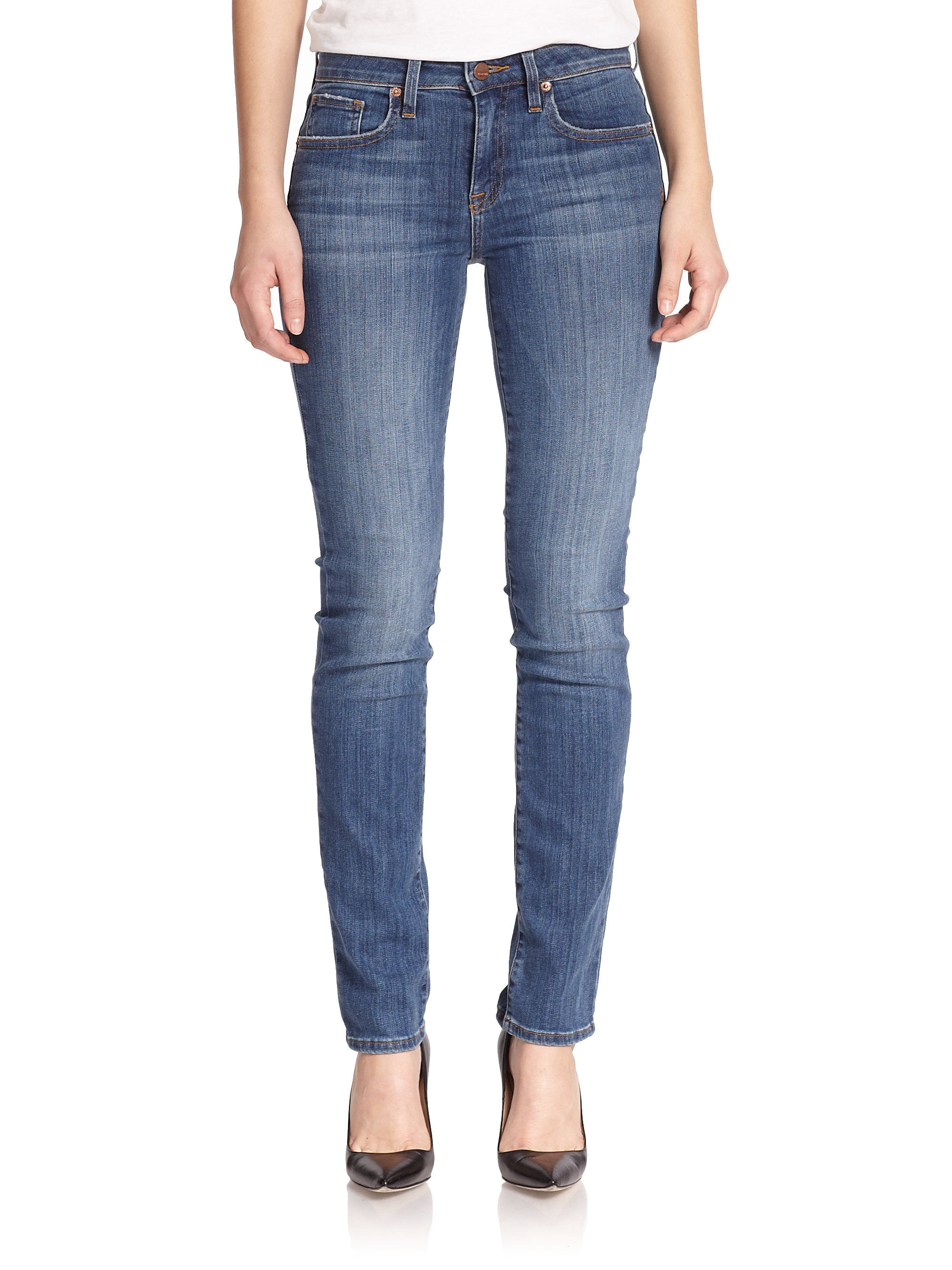 Genetic denim Matchstick Skinny-Straight Jeans in Blue | Lyst