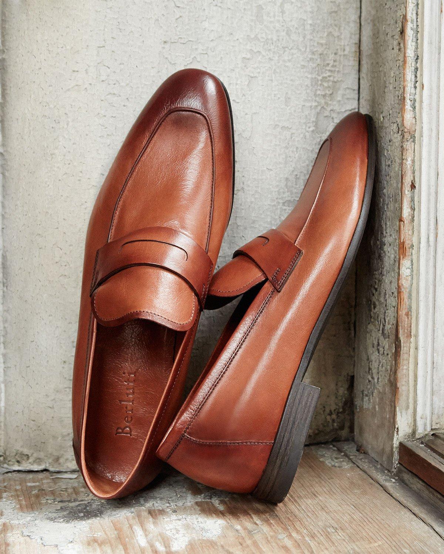 Lorenzo Leather Loafers Berluti pz72ERG2ZV