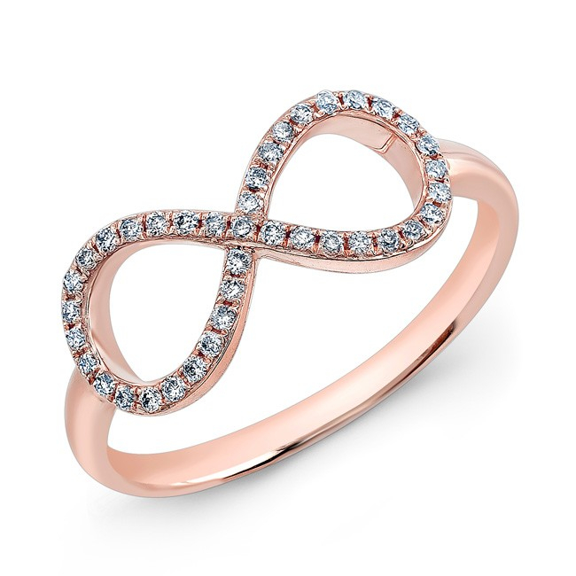 Anne Sisteron 14kt Rose Gold Diamond Large Infinity Ring