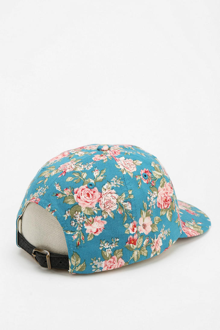 Lyst - Obey Floral Snapback Hat in Blue 75d3aa56098d
