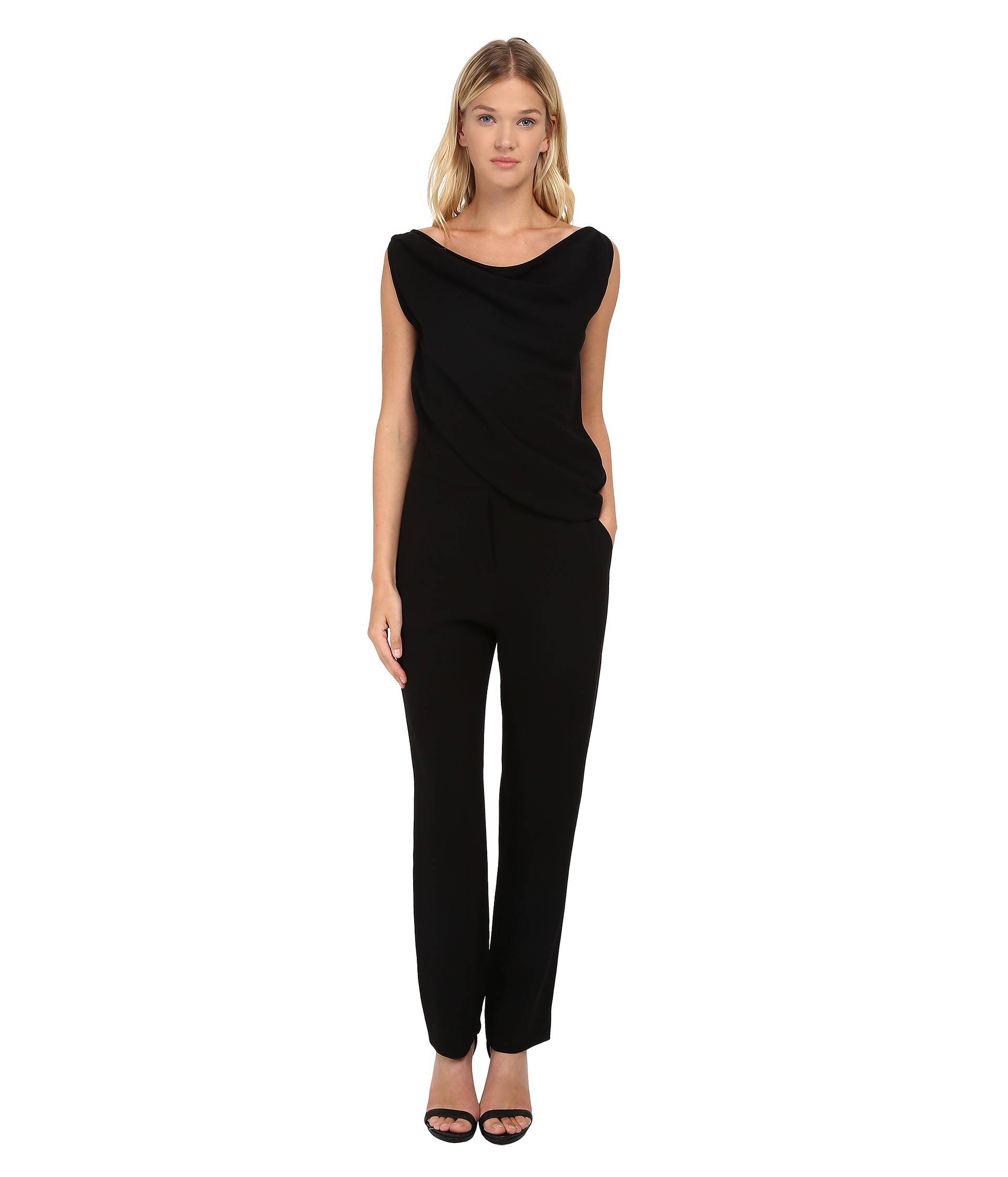 Mcq All-in-one Drape Jumpsuit in Black | Lyst