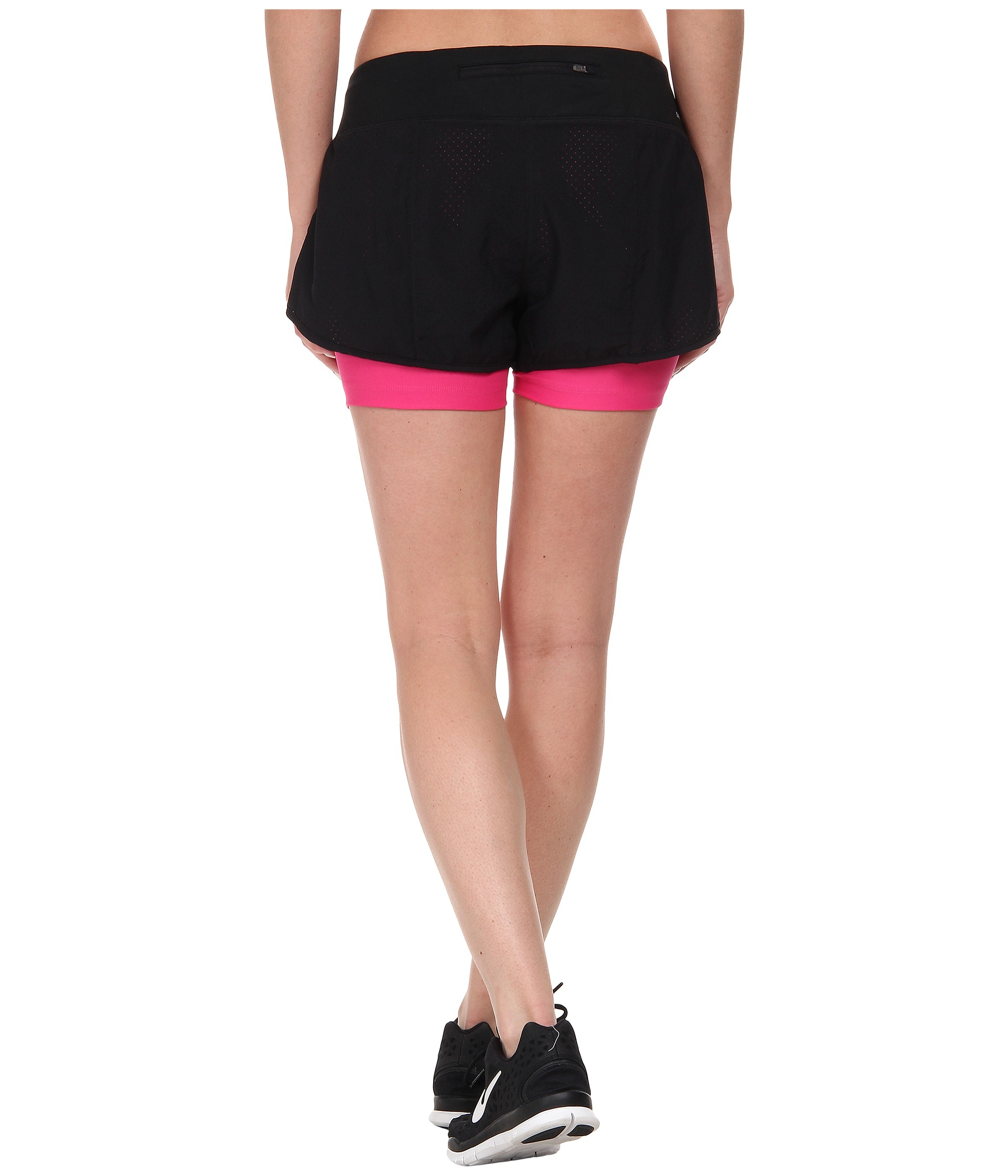 3867ca7f33cd3 Nike Perforated Rival 2-In-1 Short in Black - Lyst