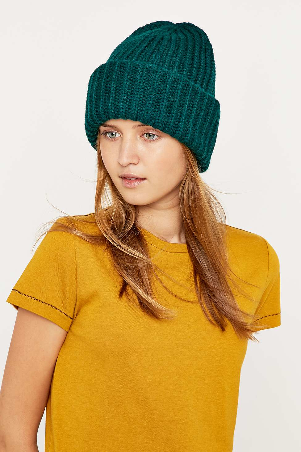 d2bb91513b0 Urban Outfitters Ribbed Stand-up Beanie in Green - Lyst