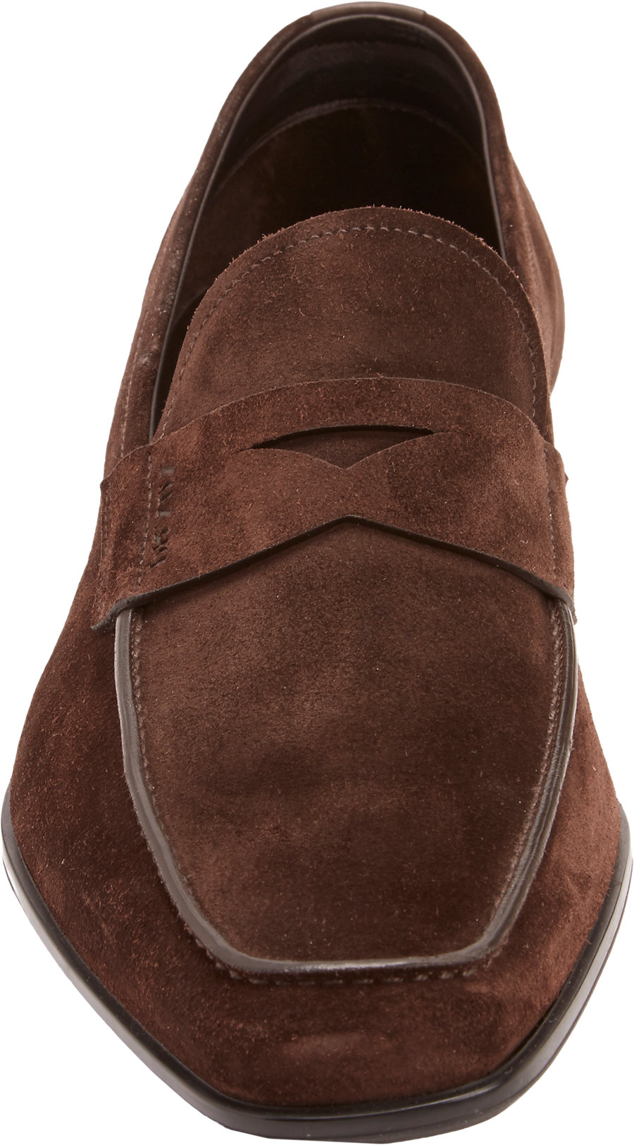40fe1db5189 ... coupon code for prada suede penny loafers in brown for men lyst f7dde  39ee4
