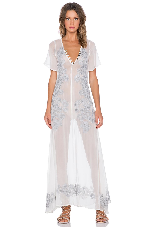 3f57455cb4 Lyst - For Love   Lemons Sicily Maxi Dress in White