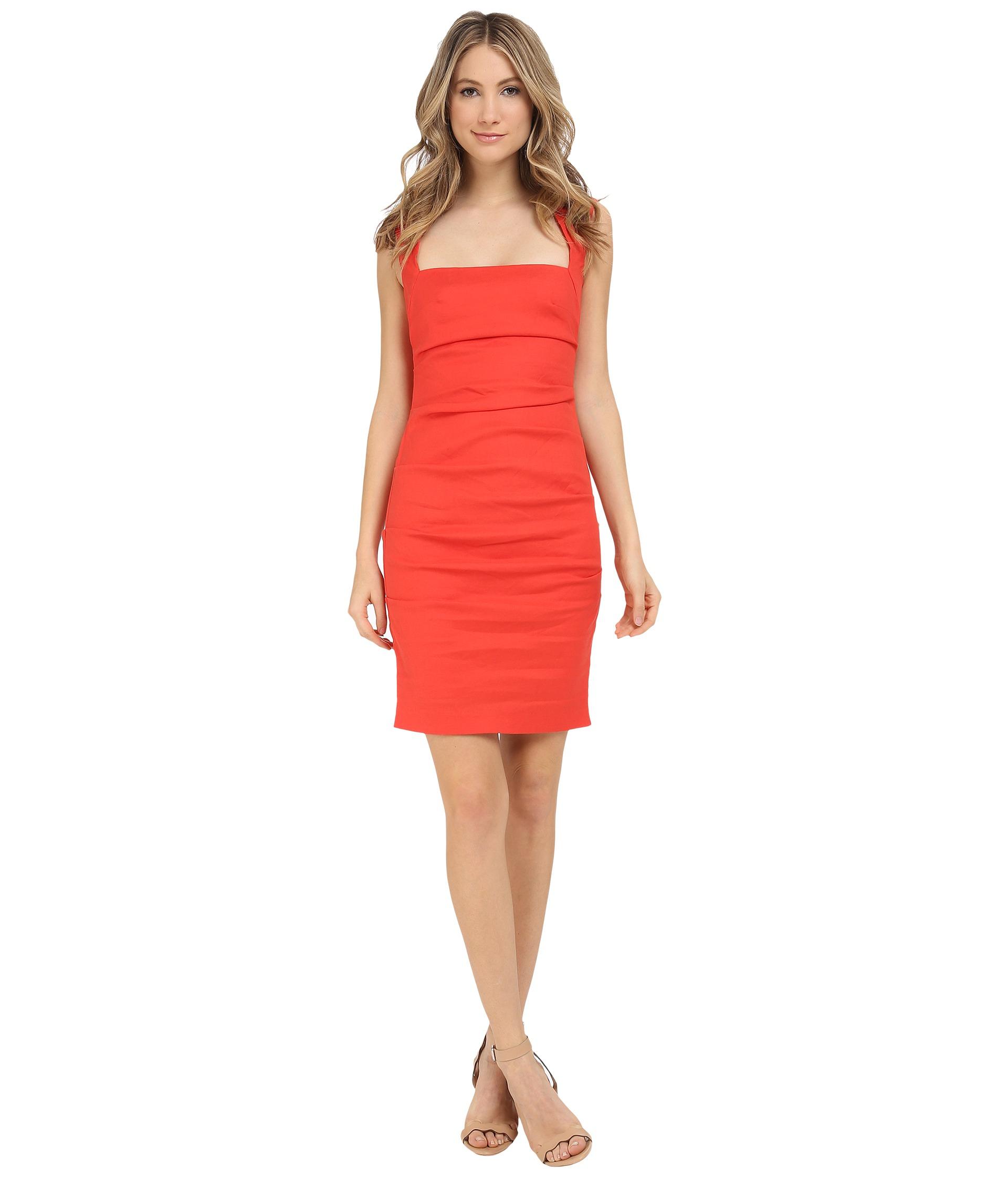 a426fcb14e5 Lyst - Nicole Miller Stretch Linen Cutout Back Dress in Black
