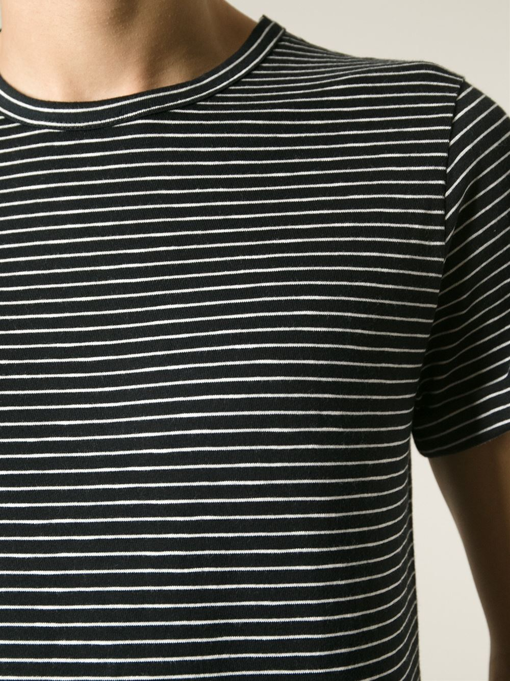 A.p.c. Striped T-Shirt in Black for Men | Lyst