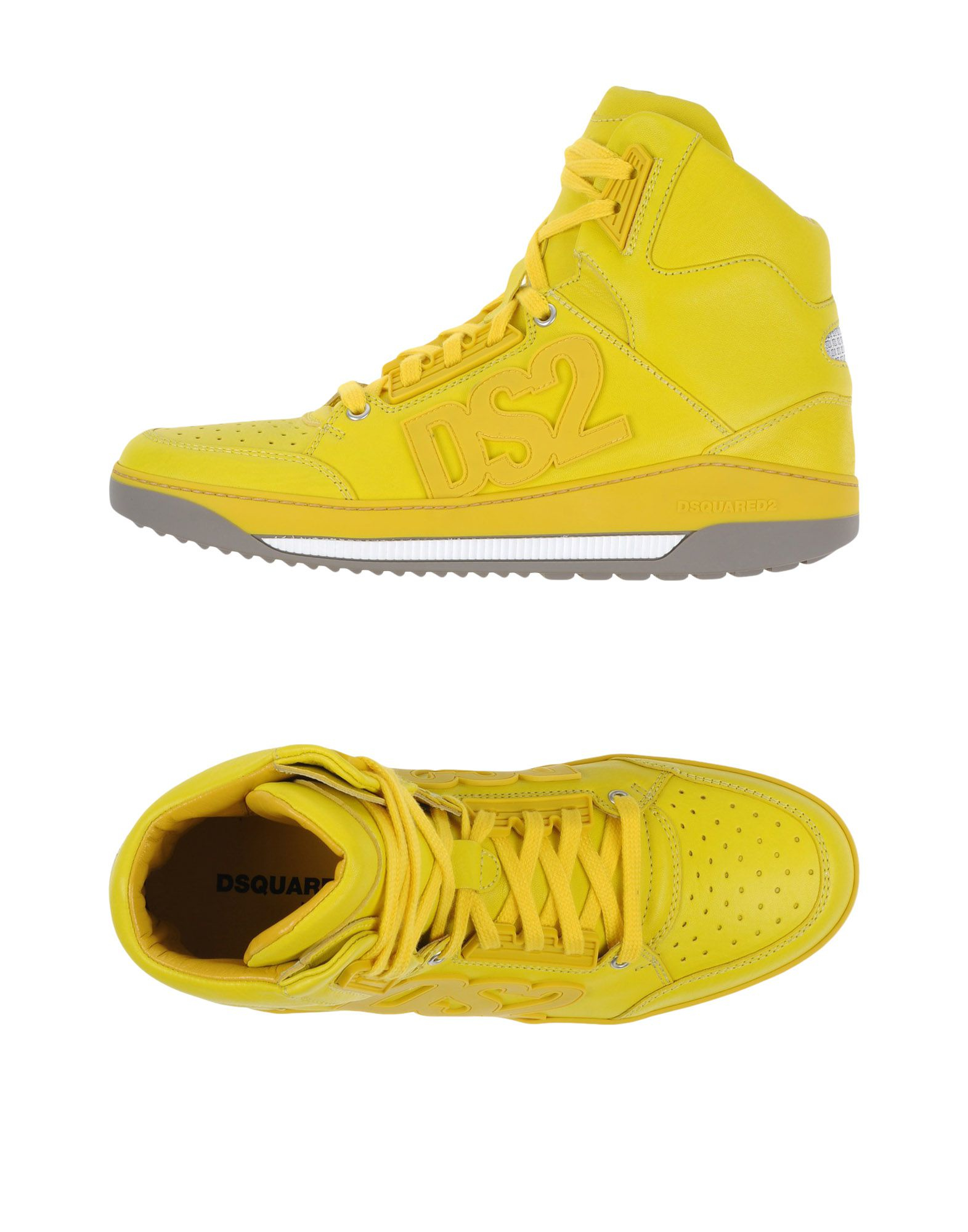 Yellow Leather Converse Shoes