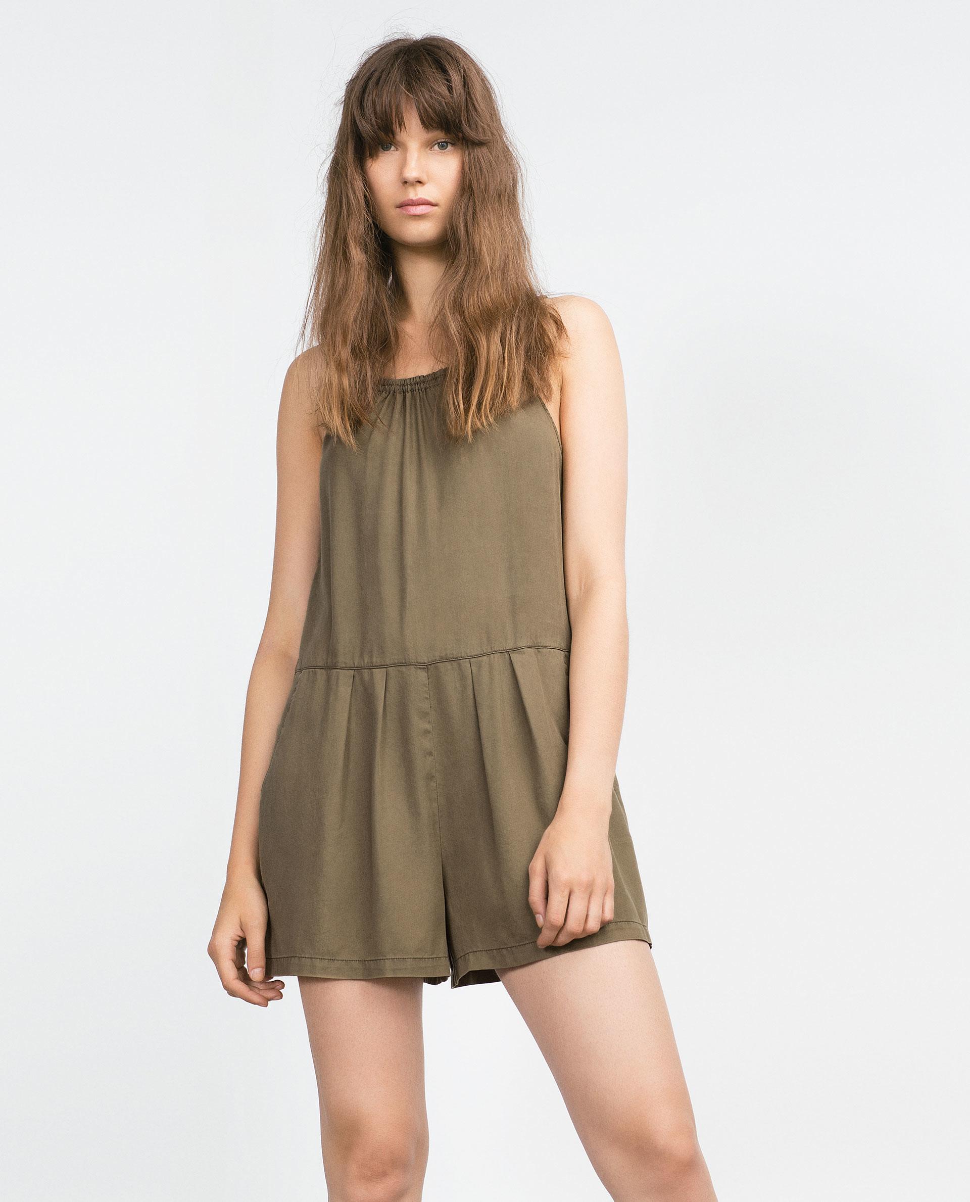 Zara Short Jumpsuit in Green