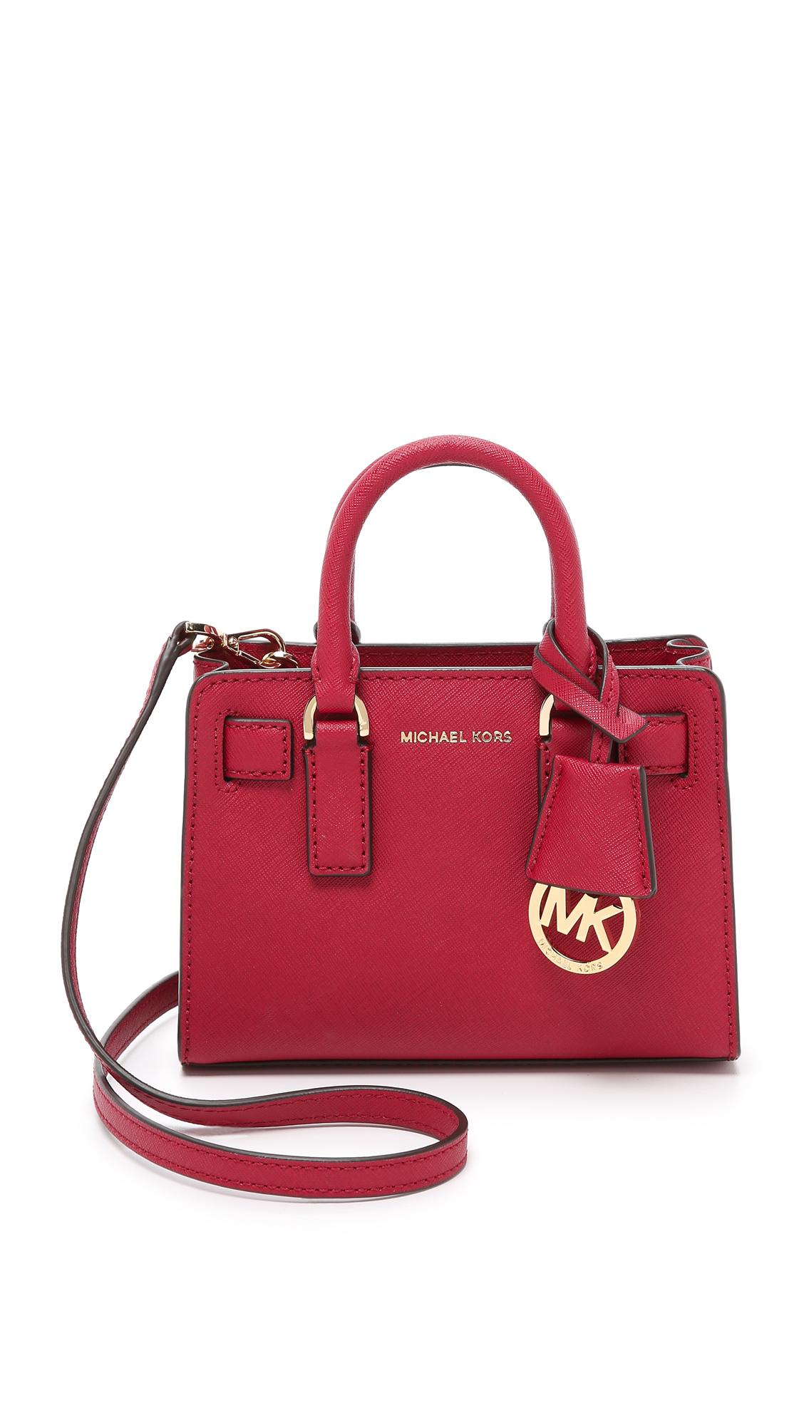 c9f2832de51a MICHAEL Michael Kors Dillon Extra Small Cross Body Bag - Cherry in ...