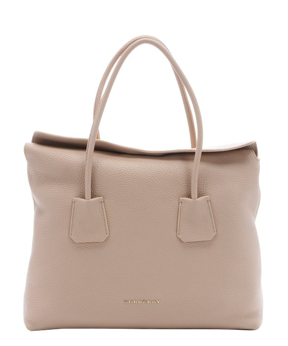 c9d6c9daa935 Burberry Light Nude Leather Medium  baynard  Tote Bag in Natural - Lyst