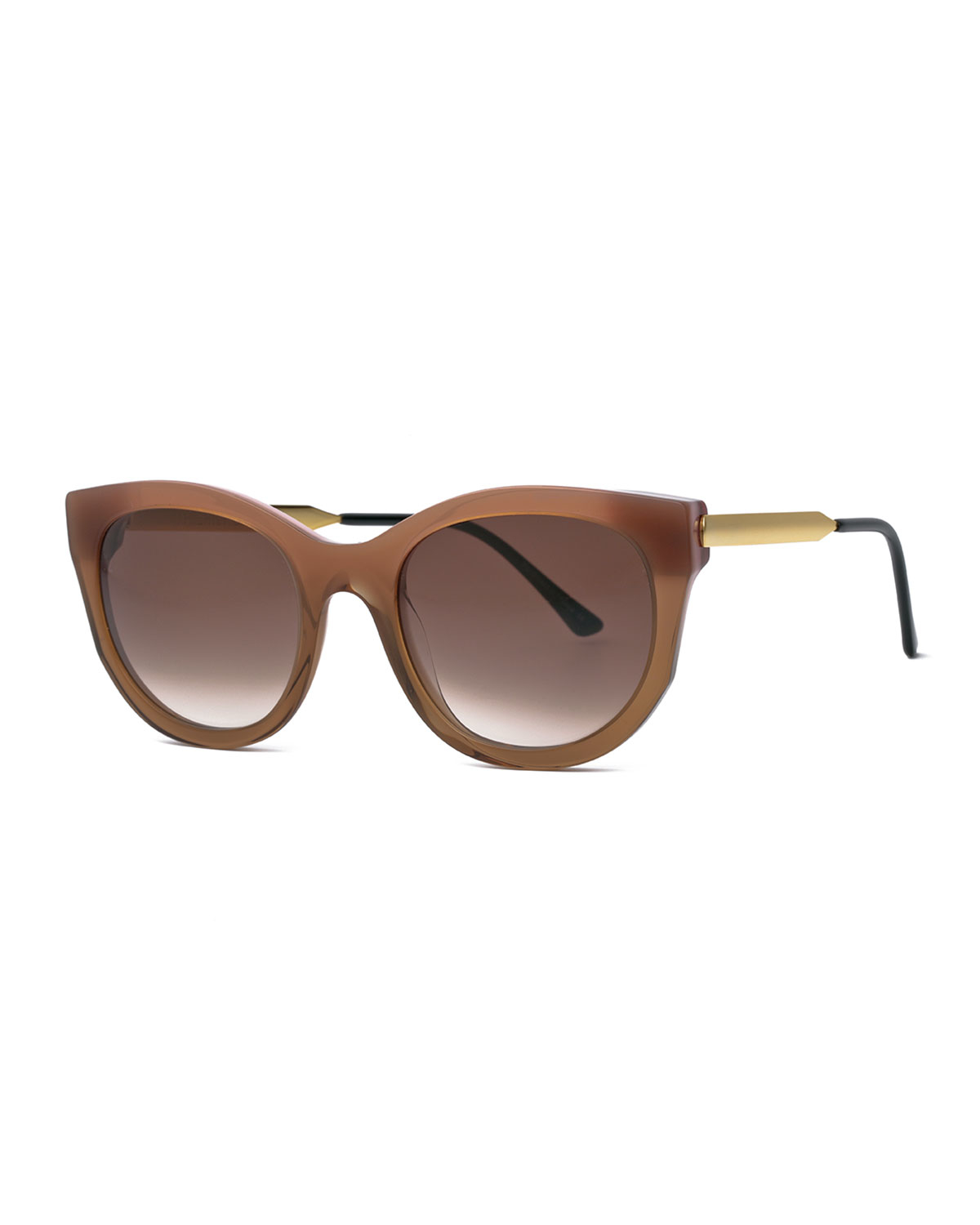 Thierry lasry Lively Cat-eye Sunglasses in Brown