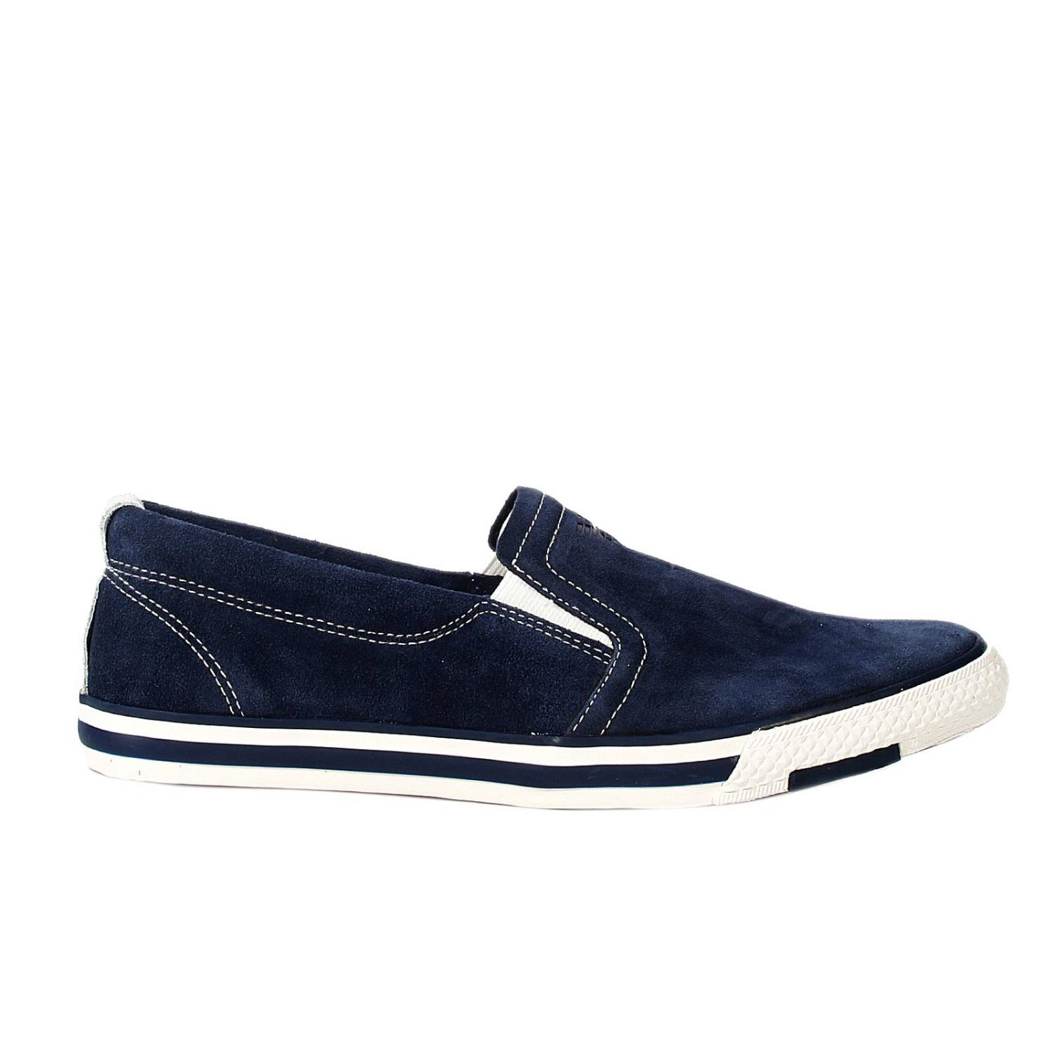 Armani Jeans Shoes Loafer Boat Suede in Blue for Men | Lyst