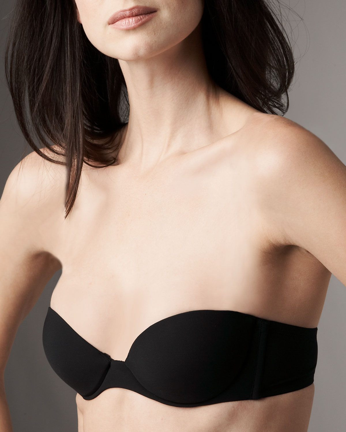 La perla Update Strapless Bra in Black