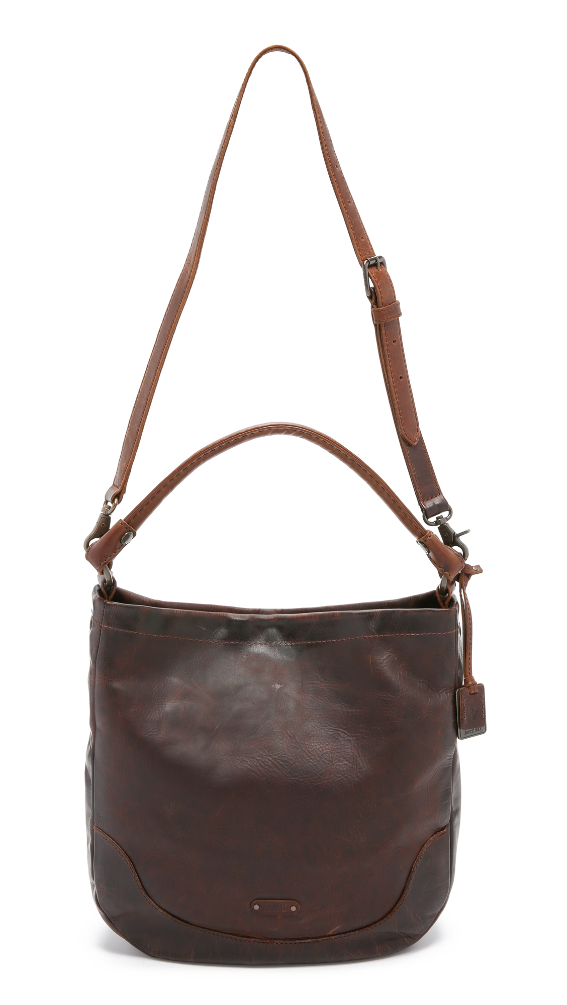 Frye Melissa Hobo Bag - Dark Brown in Brown | Lyst