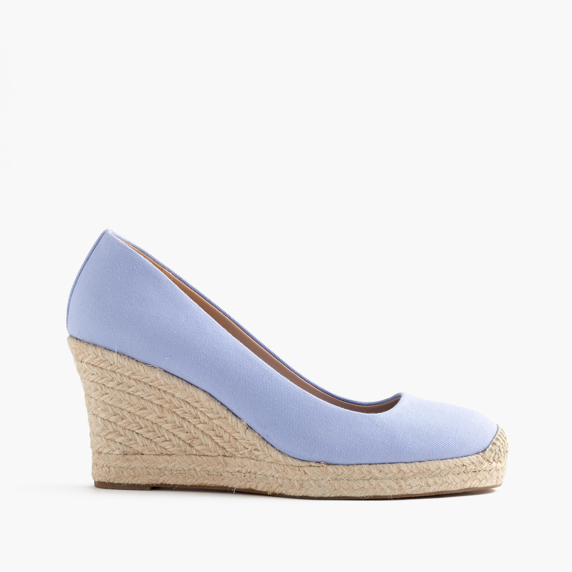 91cc3ee95cc J.Crew Seville Espadrille Wedges in Blue - Lyst
