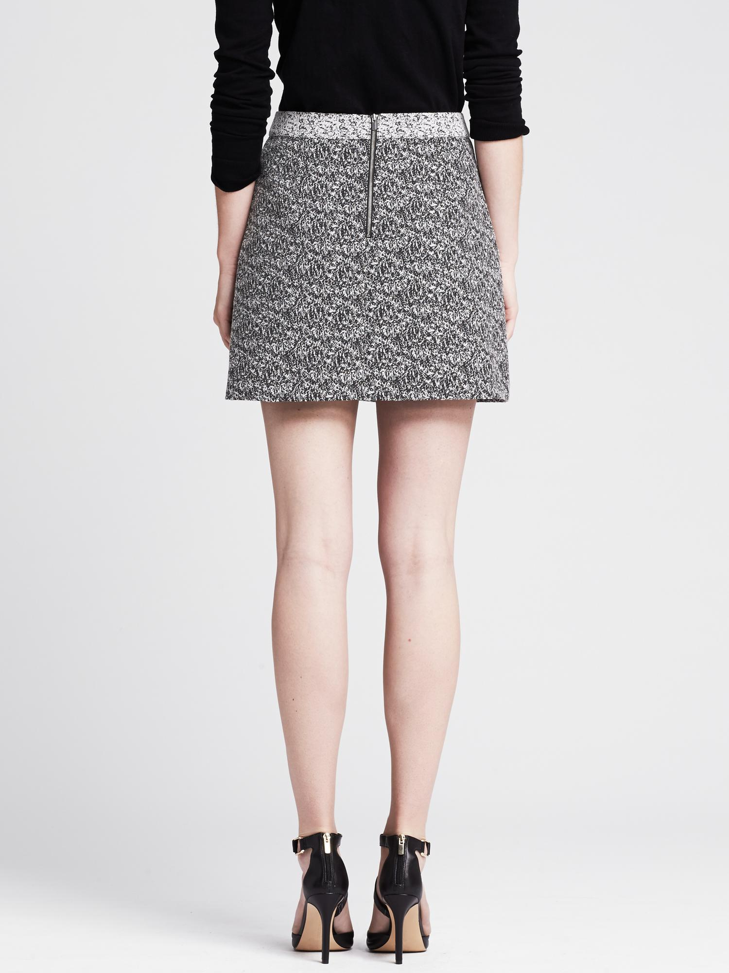 f0906165b9 Lyst - Banana Republic Marled Full Skirt in Black