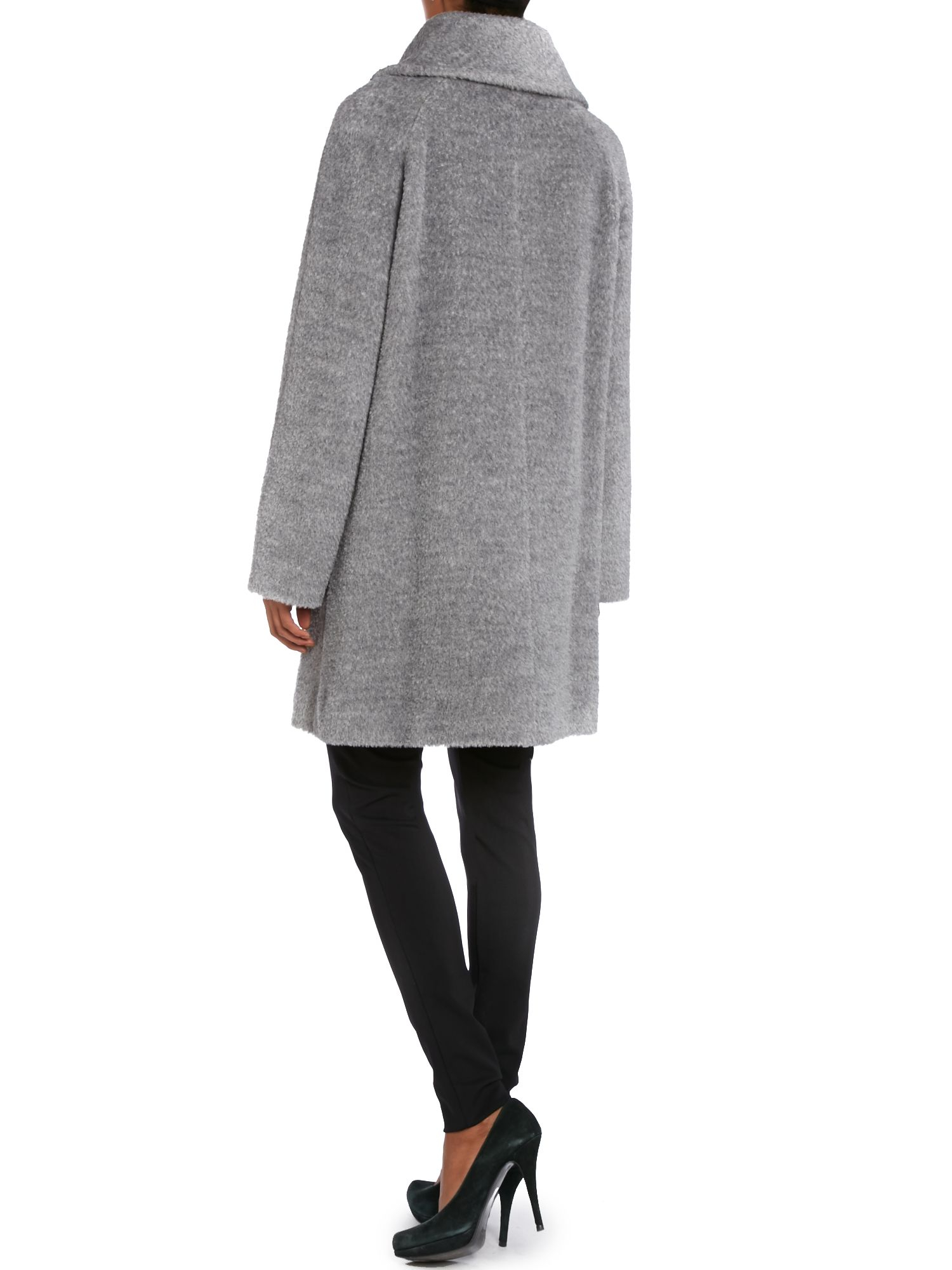 Lyst Max Mara Studio Gregory Funnel Neck Alpaca Coat In Gray