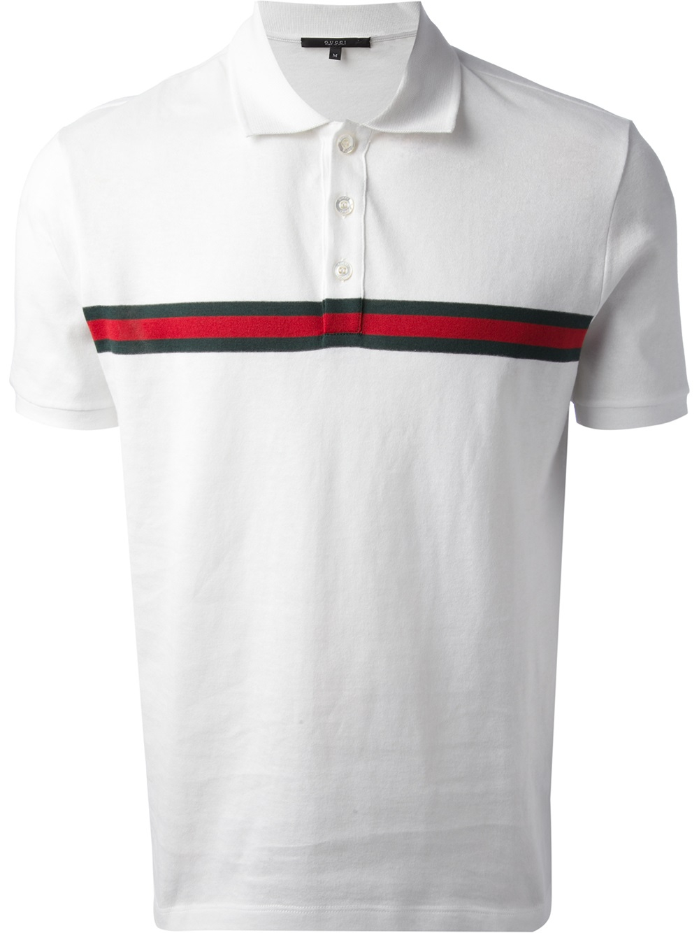 07682bcb743 Lyst - Gucci Short Sleeve Polo Shirt in White for Men