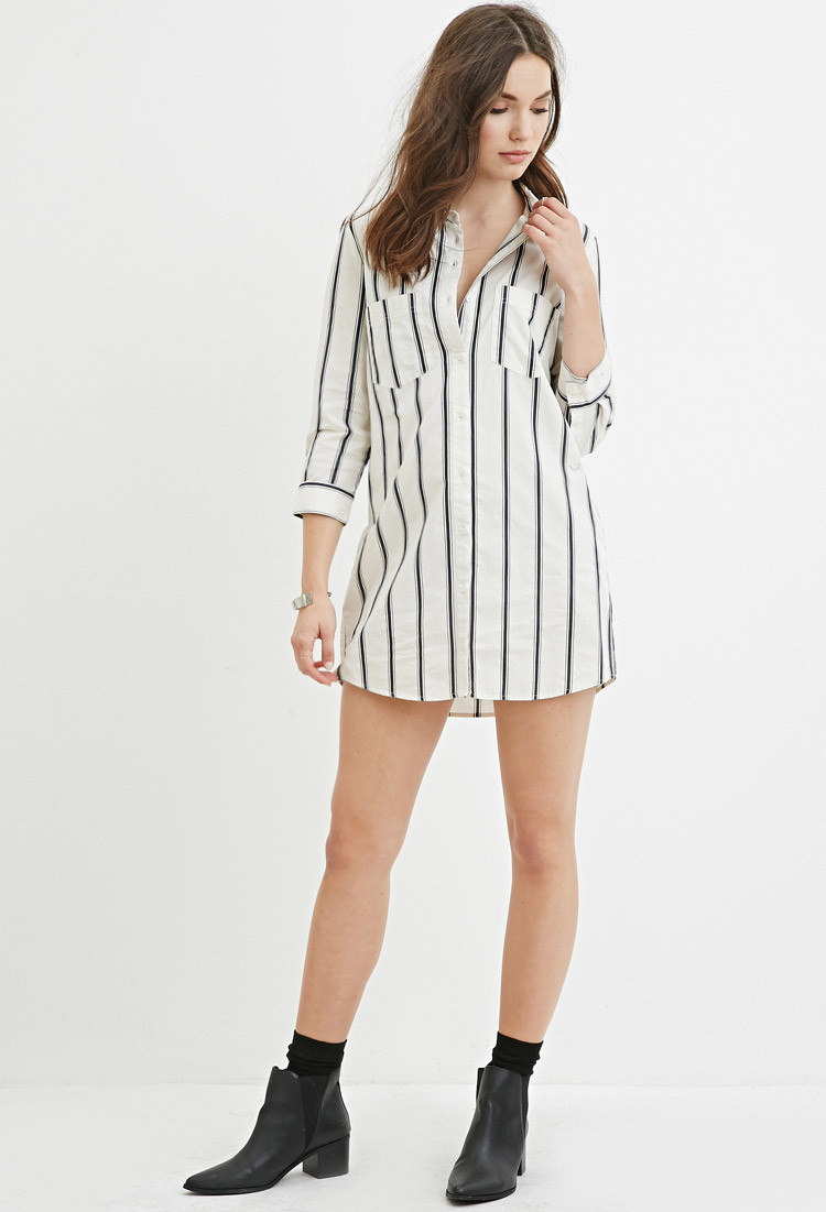 d60e8624f9f White Shirt Dress Forever 21 - BCD Tofu House
