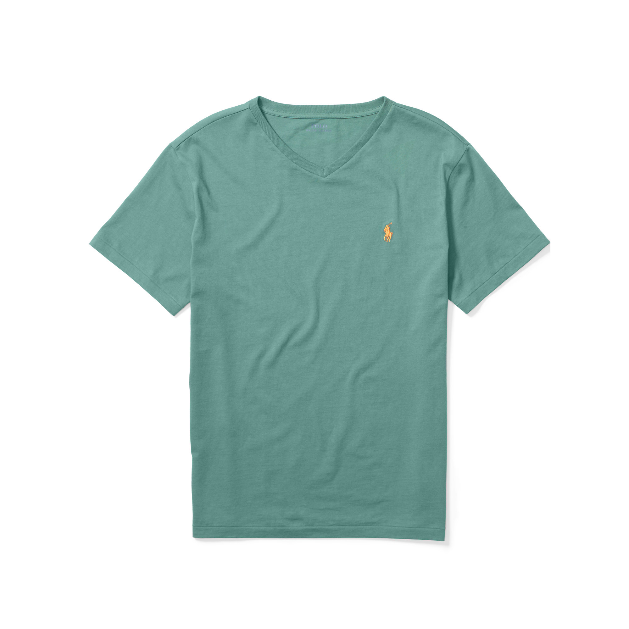 d24077aee Lyst - Polo Ralph Lauren Cotton Jersey V-neck T-shirt in Blue for Men