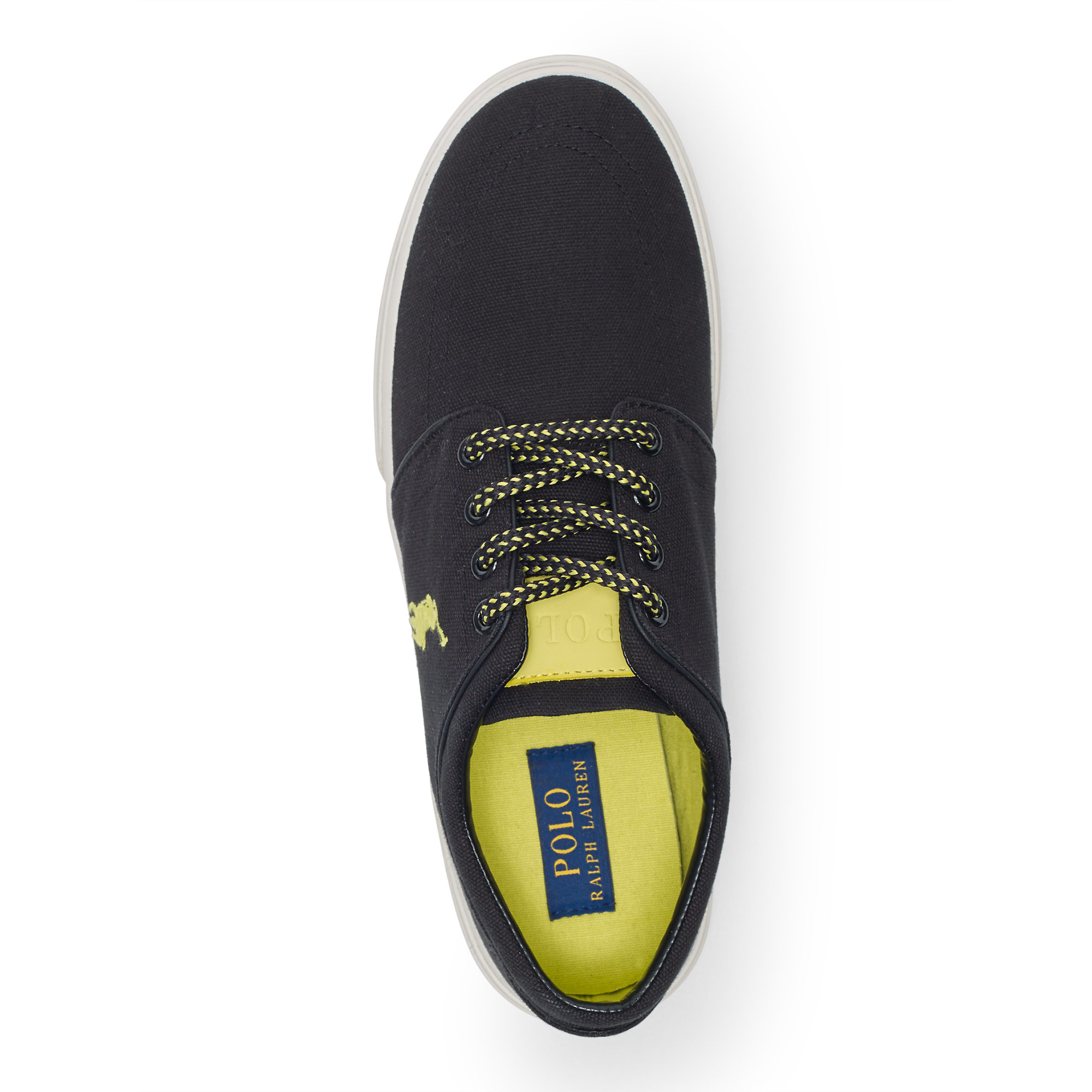 c3eb2cadbc0f0 Lyst - Polo Ralph Lauren Faxon Canvas Low Sneaker in Black for Men