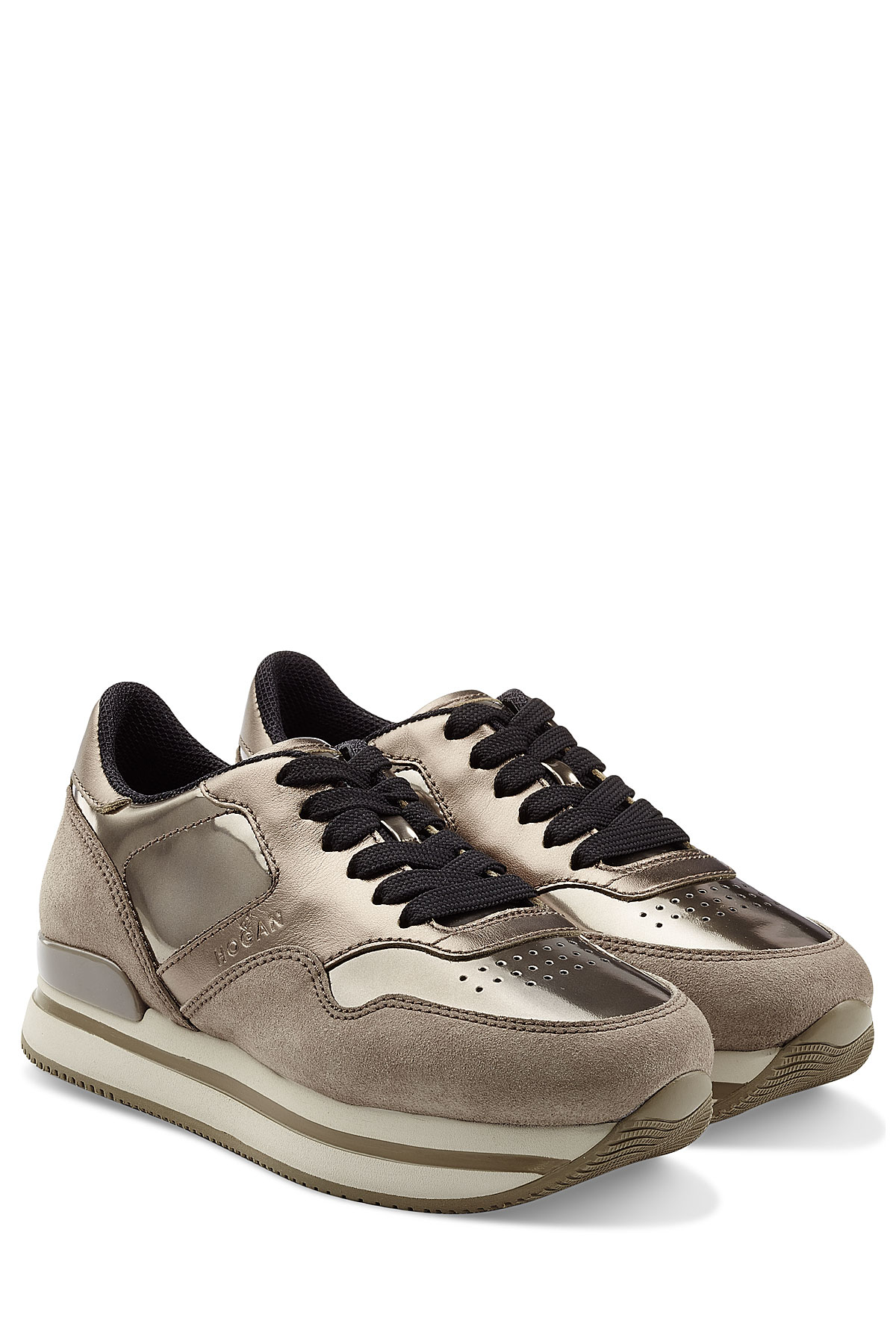 1467108d175fe Lyst - Hogan Lace Up Sneakers in Natural