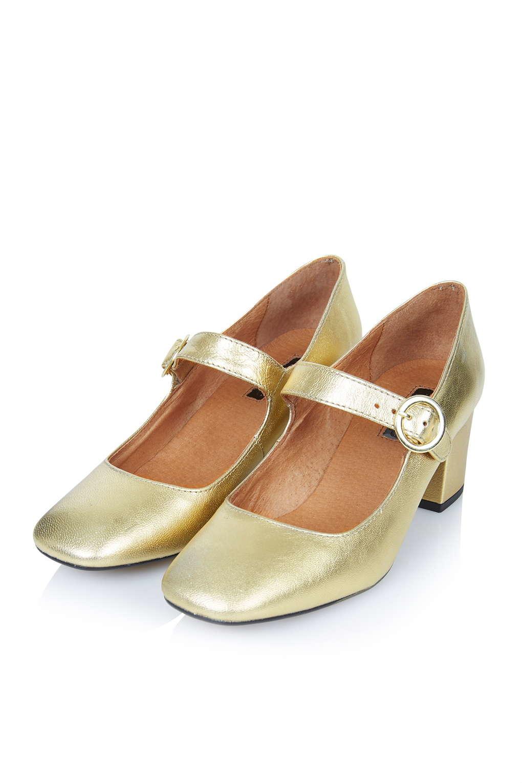 Gold Mary Jane Shoes – Fashion dresses