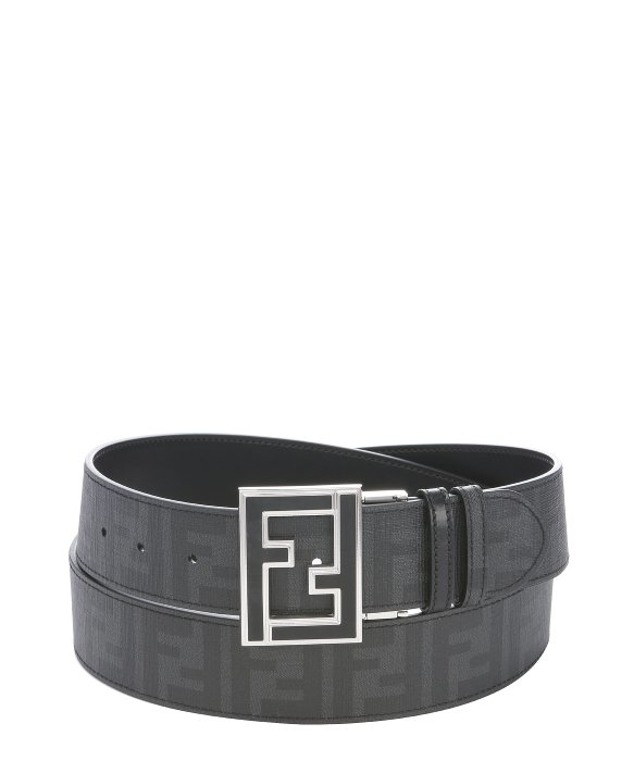 1fd04d7cb987 where to buy fendi charcoal coated canvas and black leather reversible belt  in a79e7 d5ac1