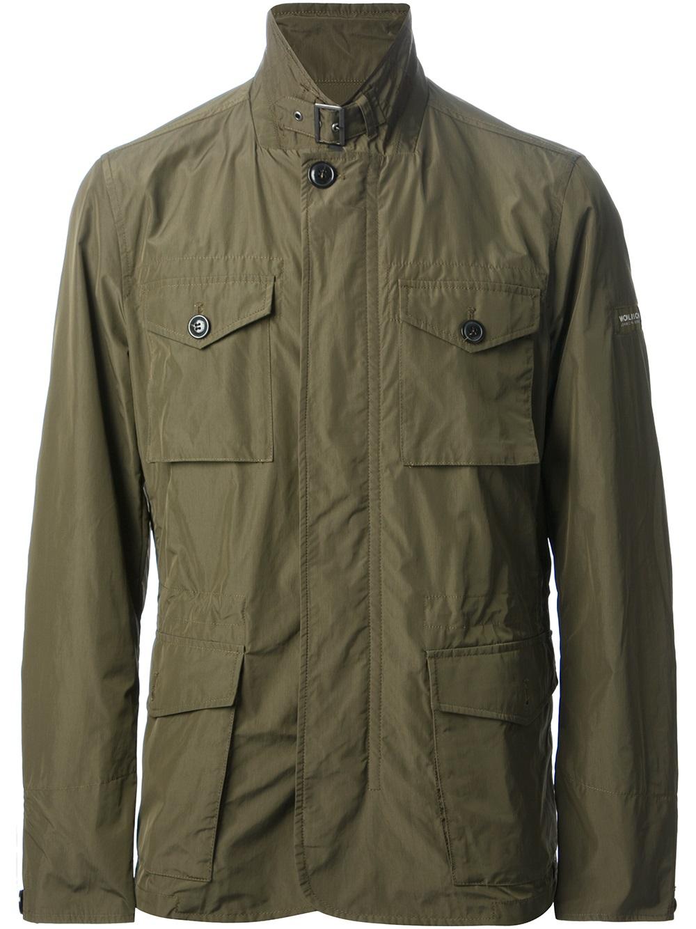 Woolrich Stream Field Jacket In Green For Men Lyst