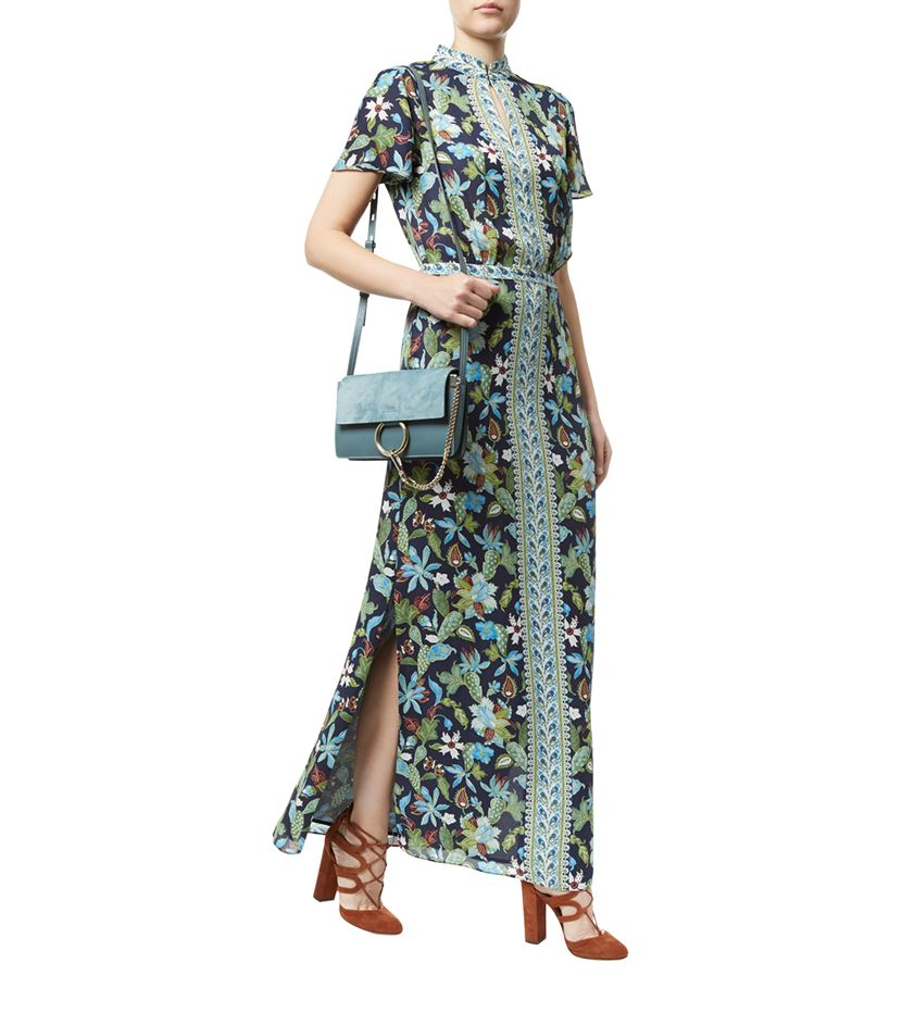 Tory burch Garden Print Maxi Dress | Lyst