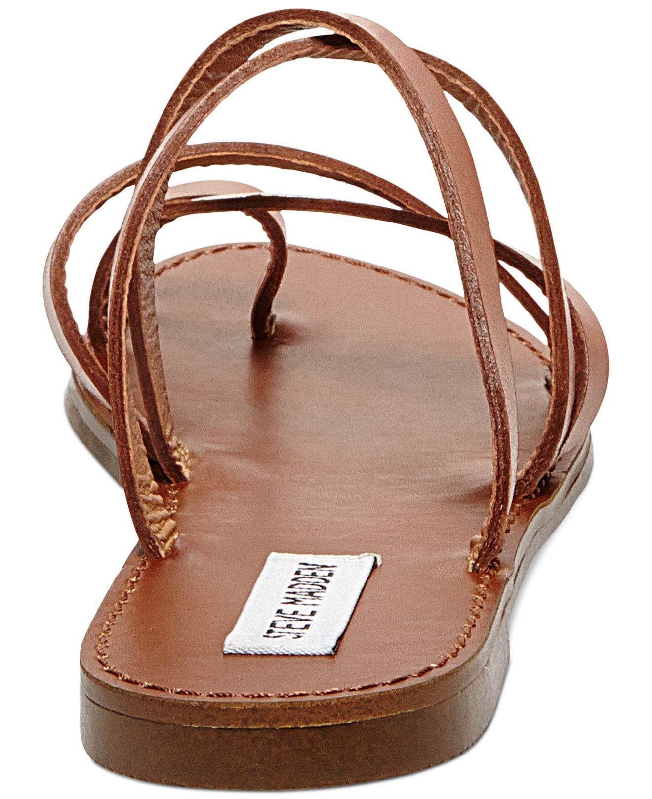 Lyst Steve Madden Antler Flat Toe Ring Slide Sandals In
