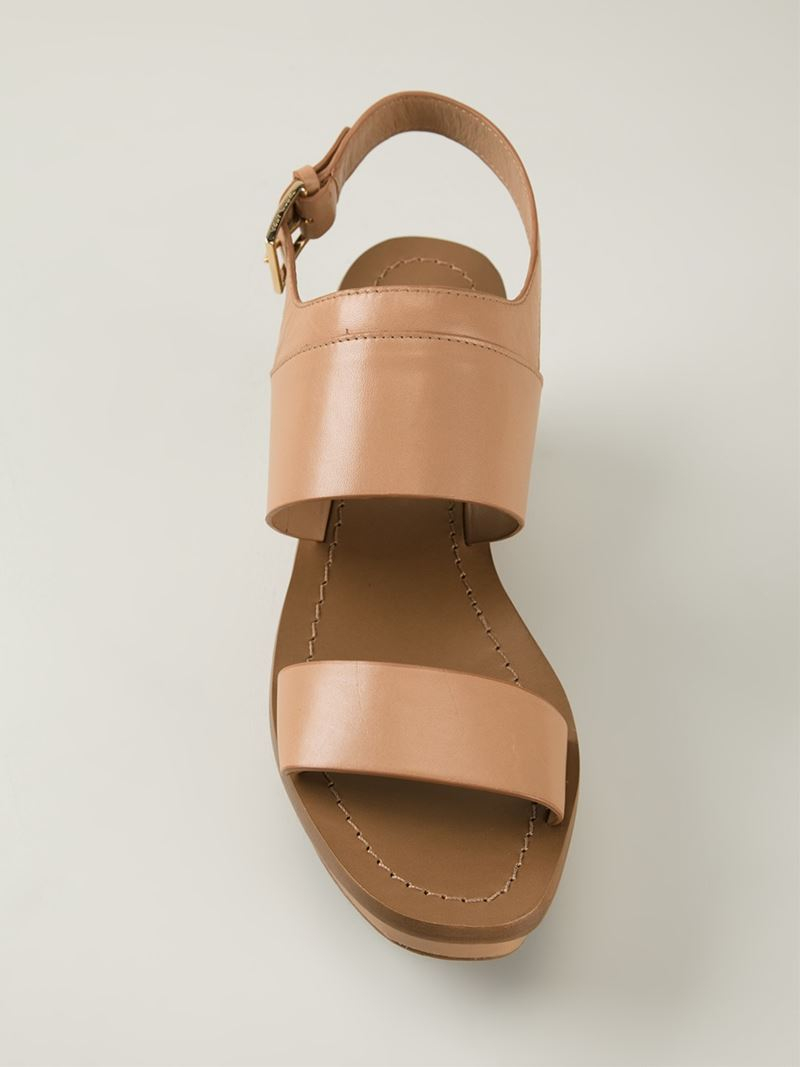 1f5825341a09 Lyst - Tory Burch Wedge Sandals in Natural