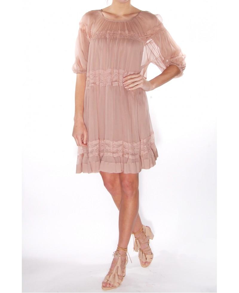 Outlet Cheap Authentic Pink ruffled dress N°21 Cheap Sale Marketable Qu5cU0K